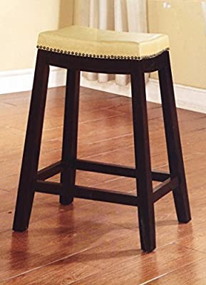 Tremendous Amazon Com Allure Saddle Upholstered Counter Stool 24 H Gmtry Best Dining Table And Chair Ideas Images Gmtryco