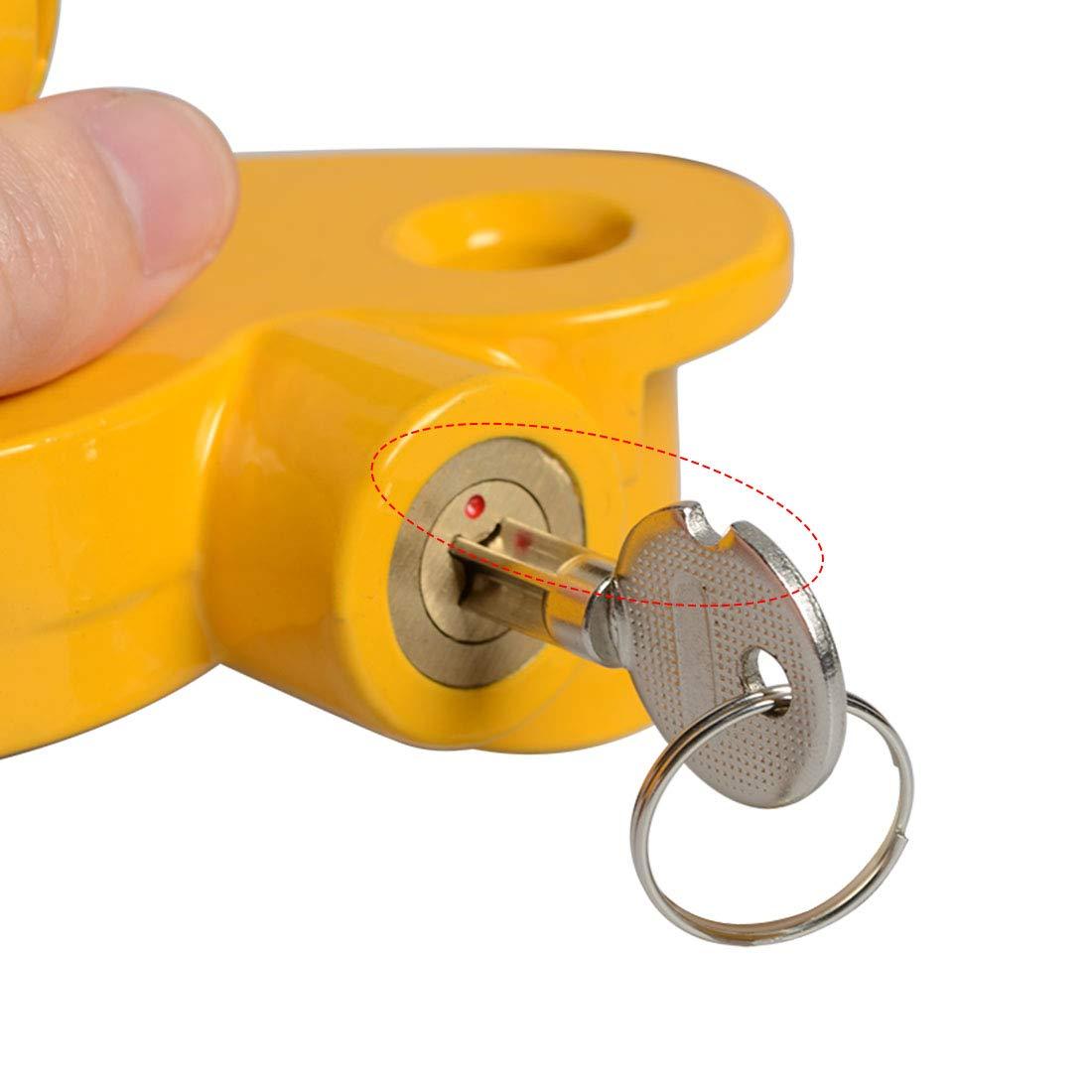 Haloview Universal Coupler Lock Heavy-Duty Steel Adjustable Storage Security