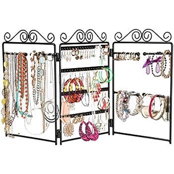 Amazoncom Finnhomy 3Panel Folding screen Jewelry Display Stand