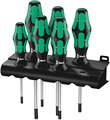 Torx Plus Screwdriver - Wera 05028062001 Kraftform Plus 367/6 Torx Screwdriver Set and Rack, 6-Piece