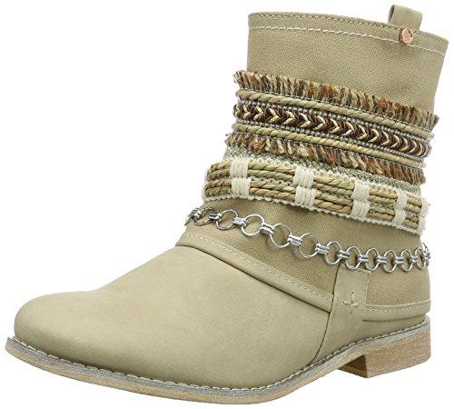 Bullboxer Boots Cream para Botas Mujer Biker Ankle Beige 88fwx5qUrO
