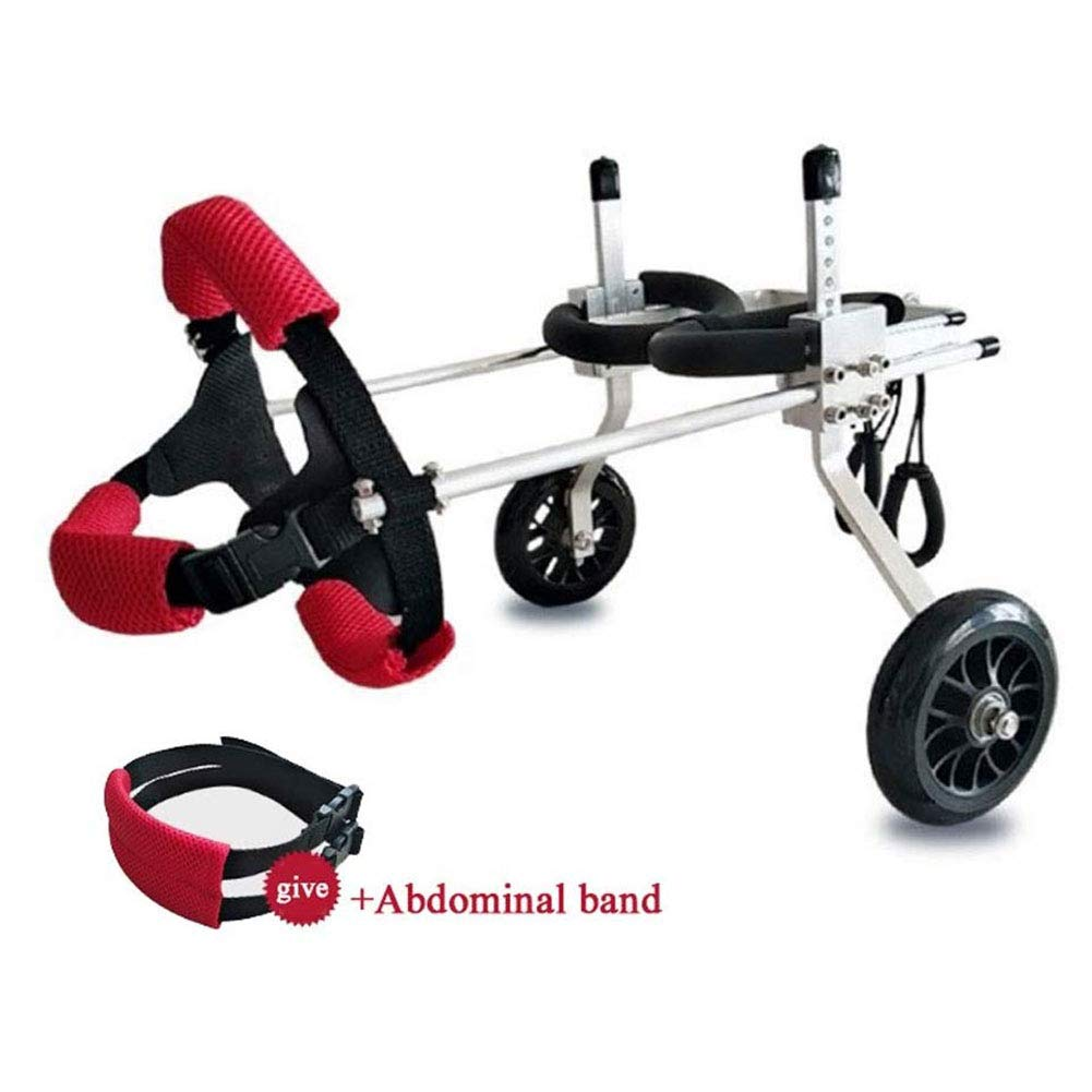Dog Wheelchair, Pet Wheelchair Adjustable Pet/Cat Dog Wheelchair Hind Leg Rehabilitation Free Belly Band Protect Spine for Handicapped Dog 2-wheel,XS by HZ Crazy helmet