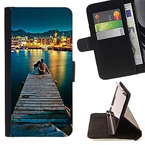 Momo Phone Case / Flip Funda de Cuero Case Cover - AMOR POR EL MAR - Apple Iphone 6 PLUS 5.5