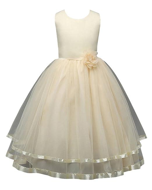 Vestidos De Princesa Elegante Para Bébes Y Niñas De Bautizo De Fiesta Amarillo 110cm