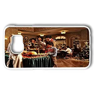 Samsung Galaxy S6 Case, Christmas Festive Buffet At Corner Cafe Of Disneyland Customize Designer Hard Shell Case for Samsung Galaxy S6 White