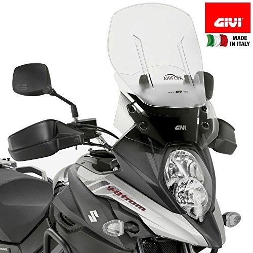 Givi Motorcycle Screens - Givi AF3112 Airflow Adjustable Wind Screen Suzuki V-Strom 650 DL650