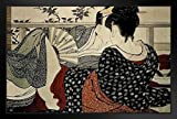 Kitagawa Utamaro Lovers In An Upstairs Room Poem Of The Pillow Framed Poster by ProFrames 20x14 inch