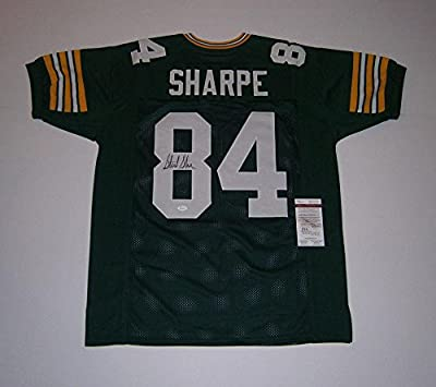 Sterling Sharpe Signed Jersey - custom #84 COA - JSA Certified - Autographed NFL Jerseys
