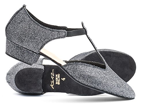 By Katz Dance Graphite Jive Dancewear Black Shoes Salsa Glitter Teaching Sandal Cerco Greek Ladies 74Pqxp