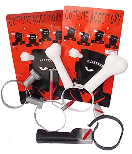 Club Pack of 96 Scary Bolts, Bone, Spike & Knife Halloween Costume Headbands ()
