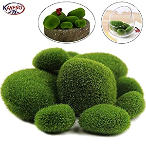 Artificial Moss Balls,Green Decorative Stones, Varying Sizes, Ideal for Vases, Table Decor, Planter Decor, Weddings, Parties, Special Events 72