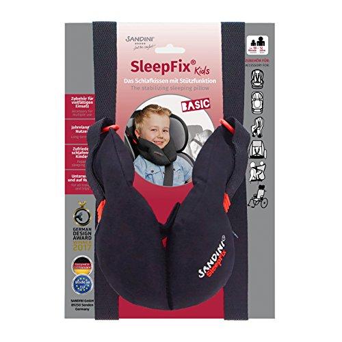 SANDINI SleepFix® Kids BASIC – Coussin dormir/ Cale-tête enfant/ Oreiller de cou offrant soutien – Accessoire pour sièges d'enfant comme version BASIC pour voiture/ vélo/ voyage – Con good