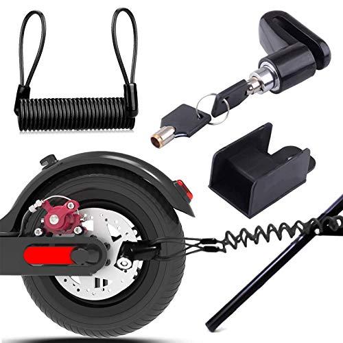 Remschijfslot, elektrische step, veiligheidsslot, diefstalbeveiliging, staaldraad, blokkering voor motorfiets, fiets, e…
