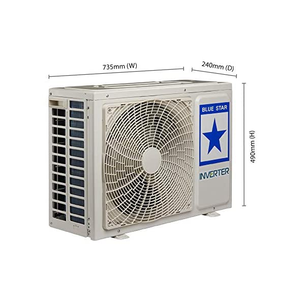 Blue Star 1.0 Ton 3 Star Inverter Split AC (Copper IC312MATU White)