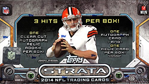 2014 Topps Strata NFL Trading Cards Hobby Box by Topps