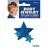 Amscan Spirit Glitter Body Jewelry, Blue