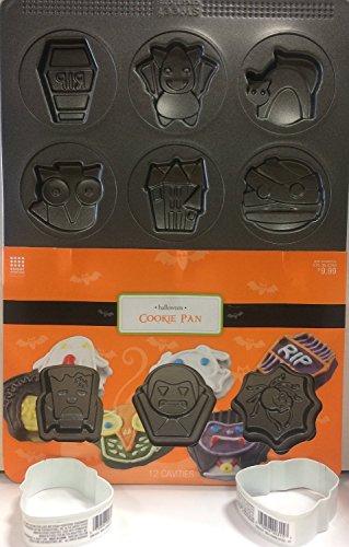 Sweet Creations Monster Halloween Cookie Pan with 12 Cavitys ()