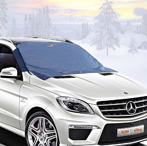 Windshield Cover for Ice and Snow - Best Auto Frost Guard - Wiper Protector - Non Scratch Magnetic - Sturdy - Heavy Duty Material - Self Storage Pouch - Keep Your Vehicle Exterior Ice Free and Clean