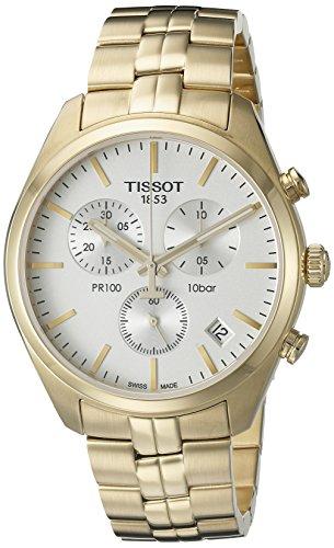 (Tissot Men's T1014173303100 Analog Display Quartz Gold Watch)