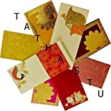 Tathastu Premium Shagun Gift Envelope (Pack of 15) Assorted Color Designs Money Holder Card Fancy Packet for Christmas Diwali Rakhabandhan Rakhi Birthday Wedding Anniversary Invitation Envelopes