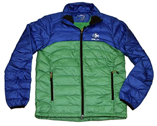 RALPH LAUREN Polo RLX Mens Full Zip Down Quilted Puffer Jacket Blue Green - Polo Rlx