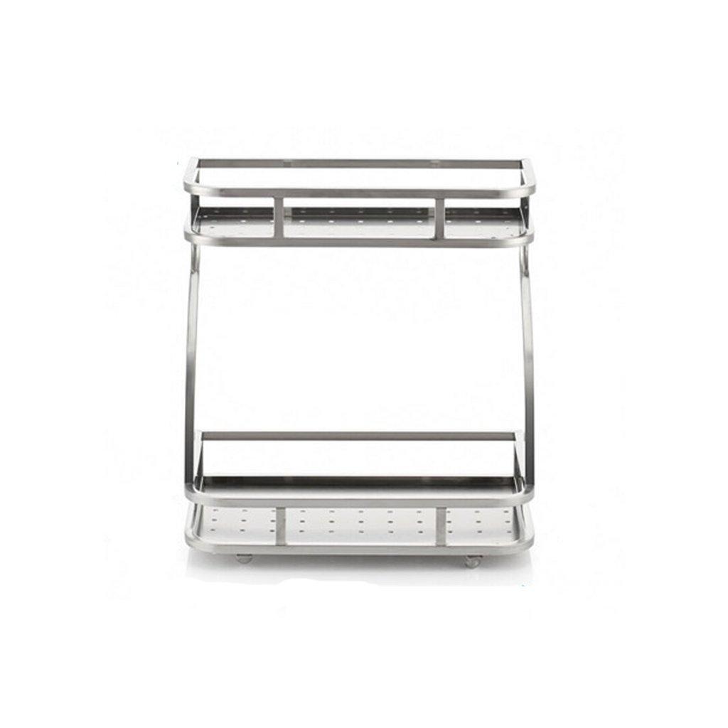 Countertop Storage Rack Condiment Storage Rack Shelf Stainless Steel 38.5 16 31.5cm