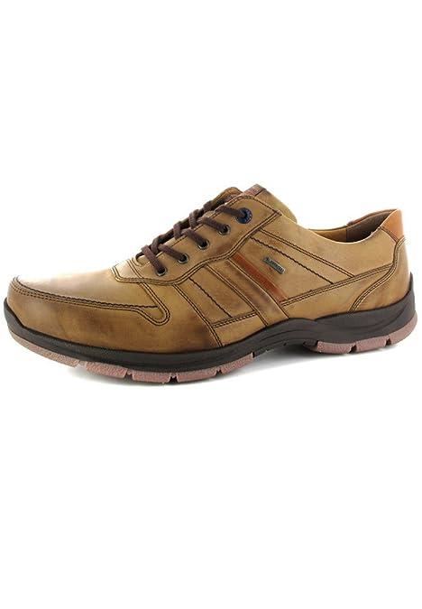 FRETZ men Sprinter - Caña baja de cuero hombre, color marrón, talla 49