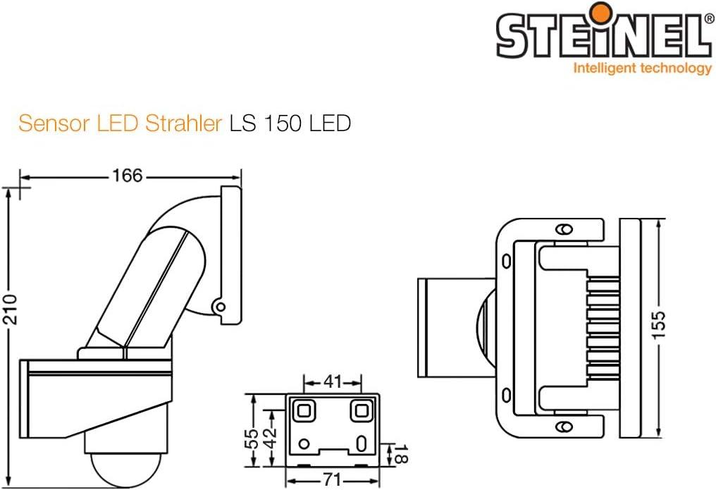 Steinel - Foco LED para el exterior con sensor de movimiento y ángulo de 240°, aluminio plástico, Negro, Integriert 20.5W 240V: Amazon.es: Iluminación