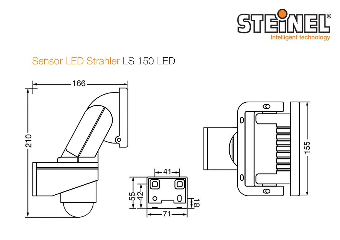Steinel - Foco LED para el exterior con sensor de movimiento y ángulo de 240°, aluminio plástico, Weiß, Integriert 20.5W 240V: Amazon.es: Iluminación