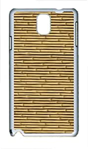 Bamboo Polycarbonate Hard Case Cover for Samsung Galaxy Note III/ Note 3 / N9000 White