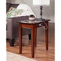 Atlantic Furniture AH13114 Shaker Side Table Rubber Wood, Walnut