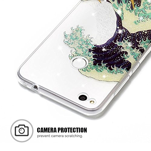 Funda Huawei P8 Lite 2017, P8 Lite 2017 Funda Silicona, SpiritSun Soft Carcasa Funda para Huawei P8 Lite 2017 (5.2 pulgadas) Trasparente Carcasa Case Cristal Gel Protectora Carcasa Ultra Delgado y Lig Olas