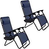 Delicieux Goplus 2PC Zero Gravity Chairs Lounge Patio Folding Recliner Outdoor Yard  Beach With Cup Holder(