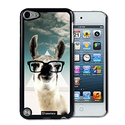 IPod 5 Touch Case Thinshell Case Protective IPod 5G Touch Case Shawnex Hipster Llama Geek Glass (Ipod 5 Llama Case)