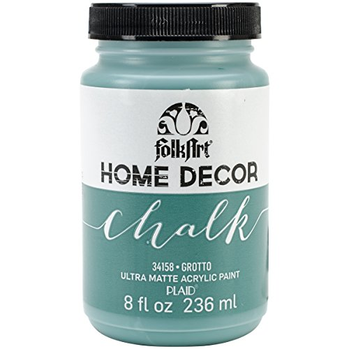 FolkArt 34158 Home Decor Chalk Furniture & Craft Paint in Assorted Colors, 8 Ounce, Grotto (Best Turquoise Paint Color For Furniture)