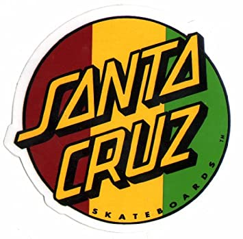 Santa cruz rasta skateboard sticker skate board skating skateboarding sk8 new