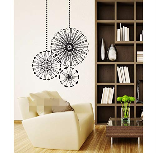 BRILLINT.YY Wall Stickers Radial Ornaments Graphic Decal Decor School Dorm Living Room Bedroom Home Mural Stencil 36X23 Inch