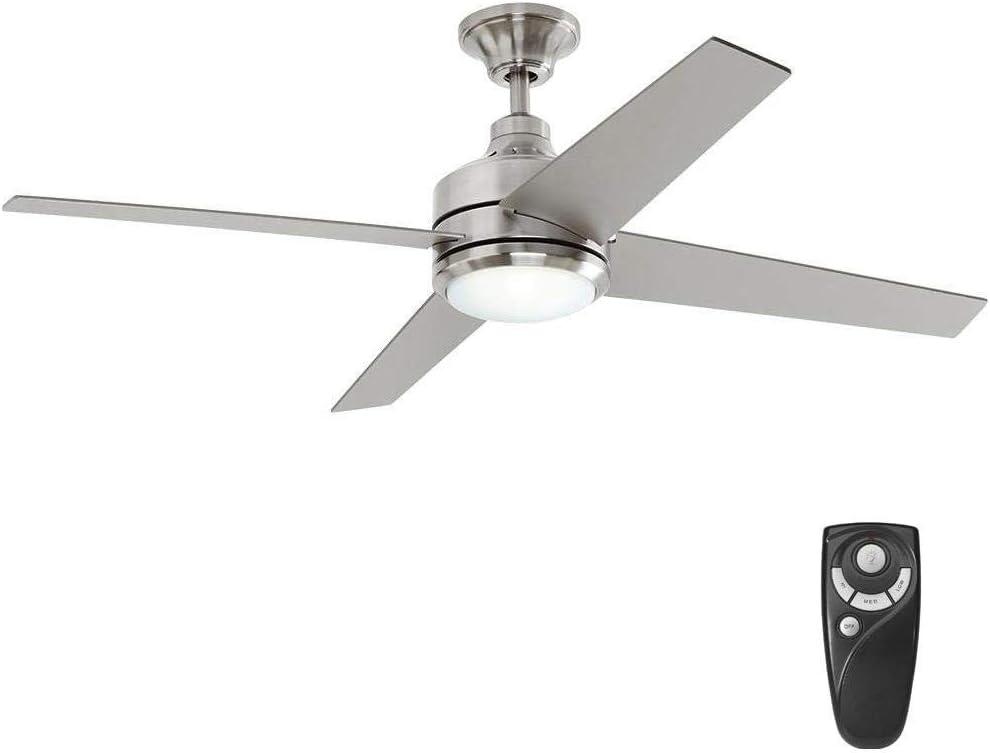 Mercer 52 in. LED Indoor Brushed Nickel Ceiling Fan