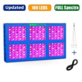 MEIZHI 900W LED Growing Light, Updated Reflector Plants Lamps Dual Switches Full Spectrum for Indoor Tent Veg Flowers - 180pcs LEDs, High Efficiency with Same Output as Other Blurple 1200W 1800W