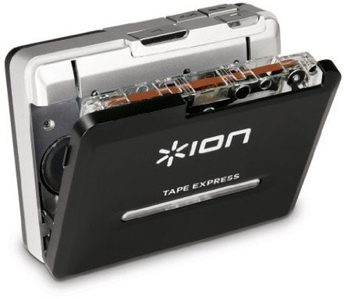 ION Tape Express Plus | Cassette Player and Tape-to-Digital Converter with USB & 1/8