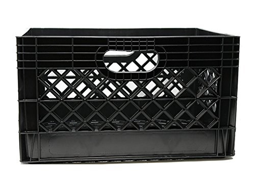 Mutli-Purpose Milk Crate Jezero Mc-24 Mutli-Purpose black Milk Crate, Rectangle, 13