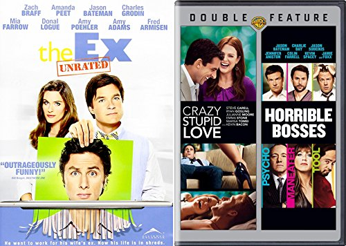 Crazy People Comedy Set - The Ex, Crazy Stupid Love & Horrible Bosses 3-Movie - The Sequel Hangover