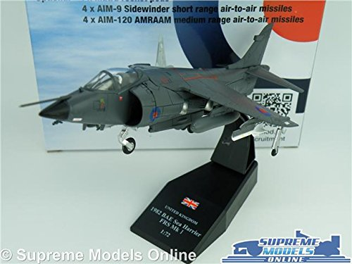 BAE SEA HARRIER FRS MODEL AIRPLANE AIRCRAFT 1:72 SCALE 1982 RAF ROYAL AIR MK1 K8