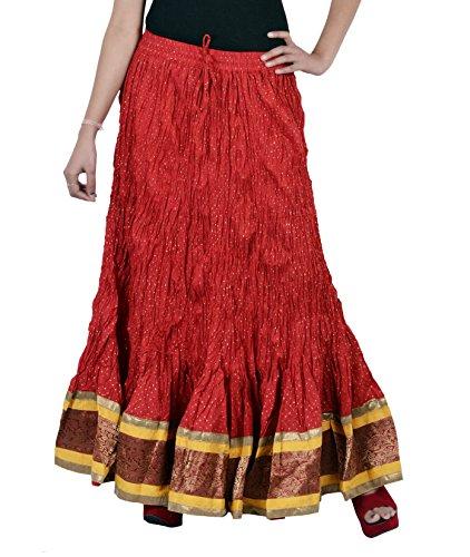 Jaipur Kala Kendra - Falda - para mujer Rosso