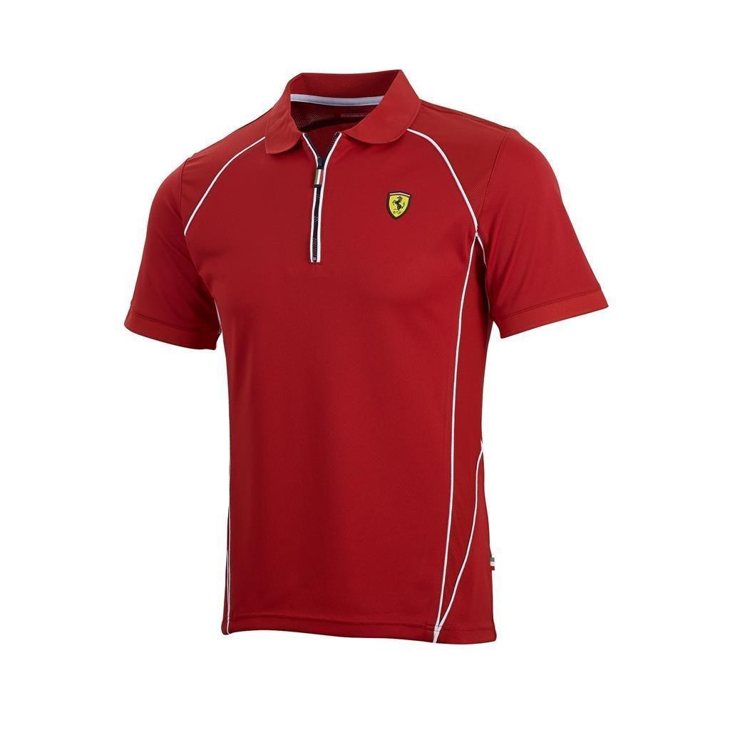 【 Ferrari】】 スクーデリア フェラーリ Ferrari オフィシャル パフォーマンス ポロシャツ B01HHOA7RW S身幅50cm着丈68cm レッド B01HHOA7RW, オービター:a84ba20a --- gamenavi.club