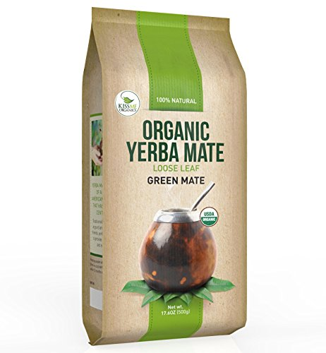 Organic Yerba Mate Loose Leaf Tea - Traditional South American Green Tea Drink - Provides Energy Boost and Aids Digestion - Packed with Antioxidants (500g)