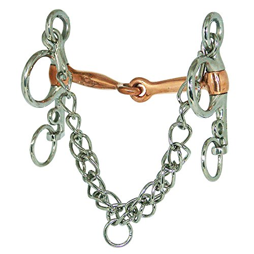 Tom Mouth Copper - Coronet Jointed Tom Thumb Copper Mouth Pelham Horse Bit, 5-Inch