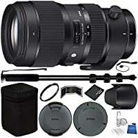 Sigma 50-100mm f/1.8 DC HSM Art Lens for Canon EF Bundle with Manufacturer Accessories & Accessory Kit (18 Items)