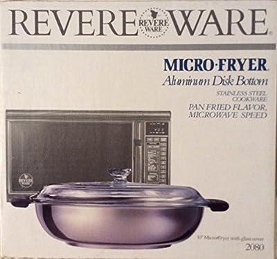 "Vintage Revere Ware Micro-Fryer 10"" SS Aluminum Disc Bottom"