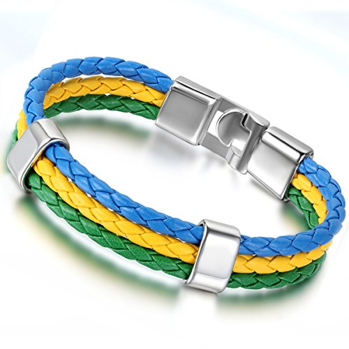 Flongo Football National Braided Bracelet
